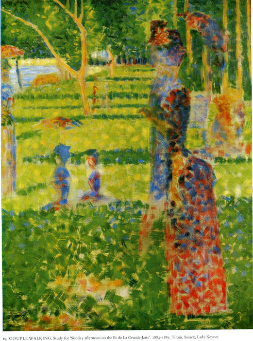 The Couple by Georges Seurat Reproduction Painting by Blue Surf Art