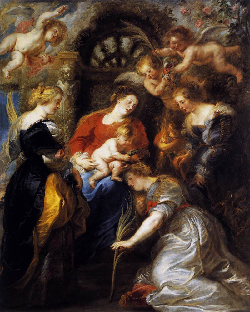 The Crowning of St. Catherine by Peter Paul Rubens Reproduction Oil Painting on Canvas