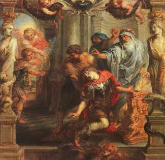The Death of Achilles by Peter Paul Rubens Reproduction Oil Painting on Canvas