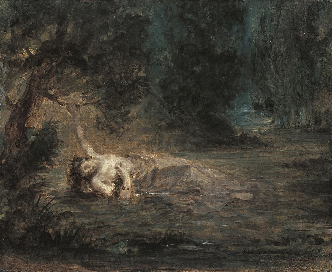 The Death of Ophelia by Eugène Delacroix Reproduction Painting by Blue Surf Art