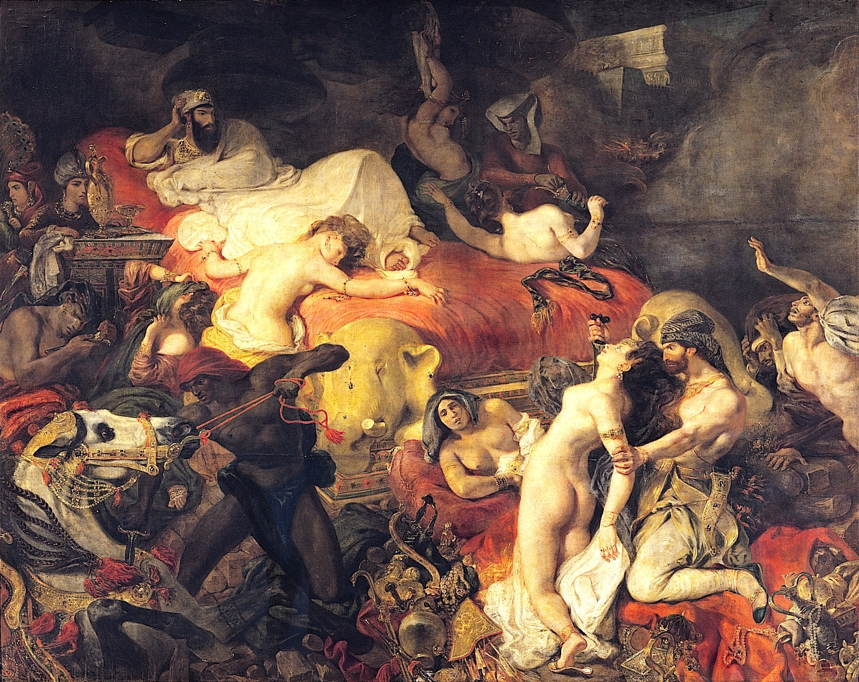 Death of Sardanapalus by Eugène Delacroix Reproduction Painting by Blue Surf Art