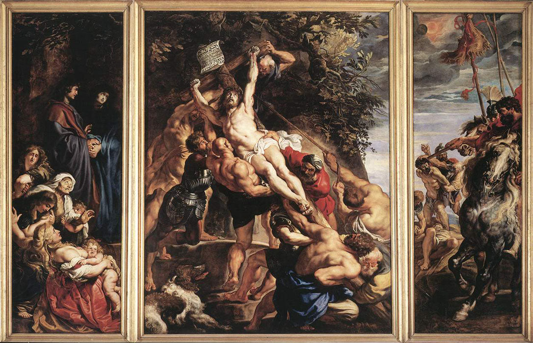 The Elevation of the Cross by Peter Paul Rubens Reproduction Oil Painting on Canvas