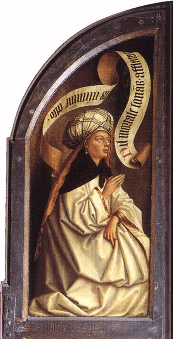 The Erythraean Sibyl by Jan Van Eyck Reproduction Painting by Blue Surf Art