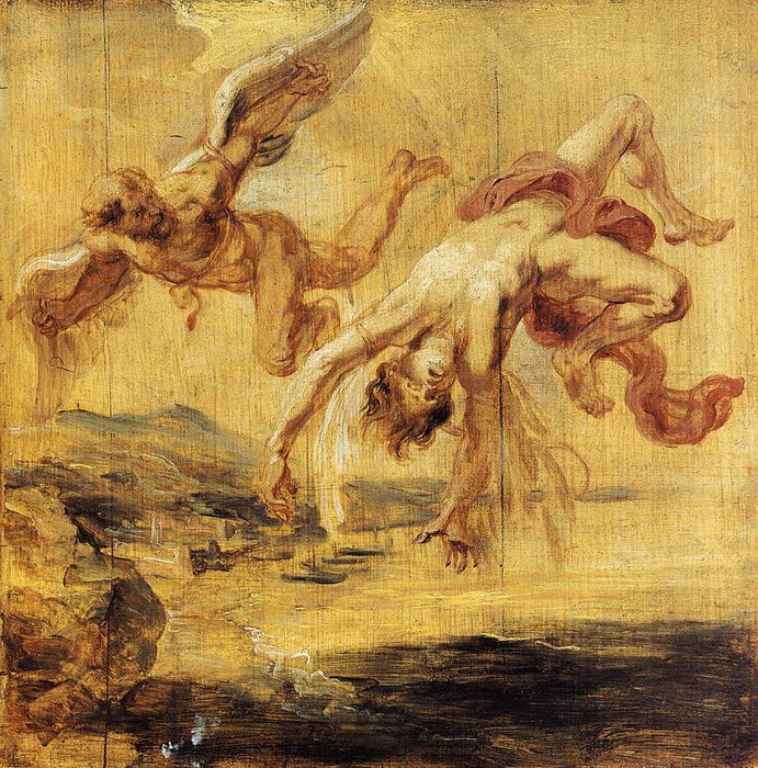 The Fall of Icarus by Peter Paul Rubens Reproduction Oil Painting on Canvas