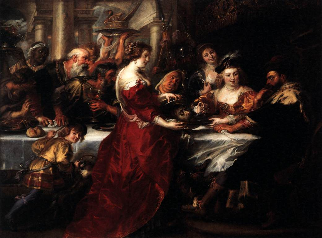 The Feast of Herod by Peter Paul Rubens Reproduction Oil Painting on Canvas