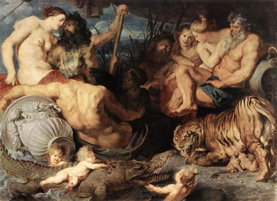 The Four Continents by Peter Paul Rubens Reproduction Oil Painting on Canvas