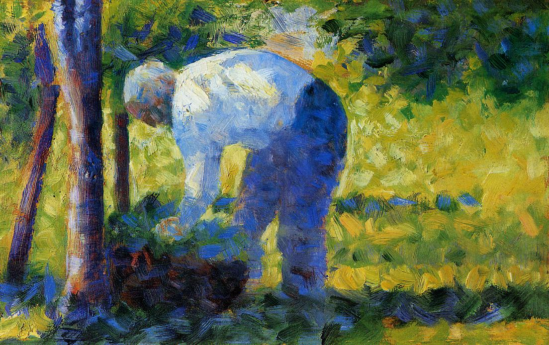The Gardener by Georges Seurat Reproduction Painting by Blue Surf Art