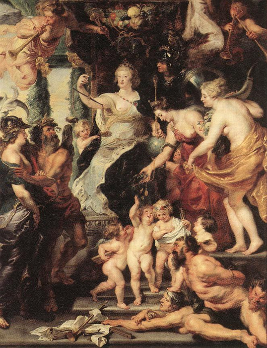 The Happiness of the Regency by Peter Paul Rubens Reproduction Oil Painting on Canvas