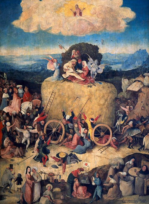 The Haywain Triptych by Hieronymus Bosch I Blue Surf Art