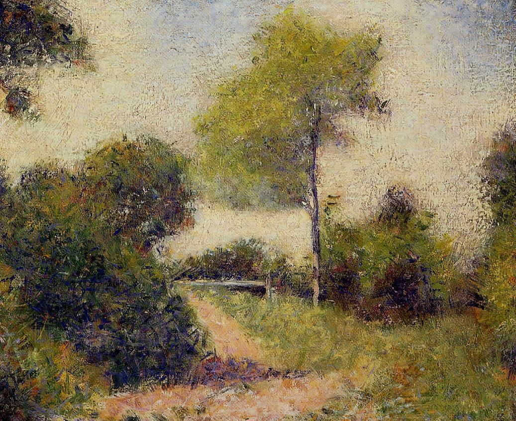 The Hedge (also known as The Clearing) by Georges Seurat Reproduction Painting by Blue Surf Art