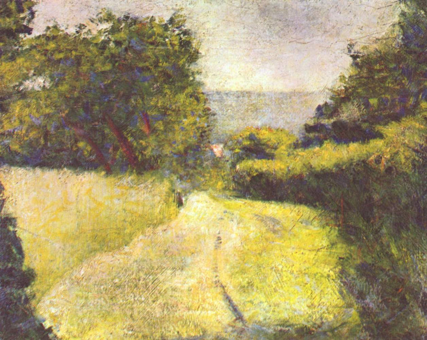 The Hollow Way by Georges Seurat Reproduction Painting by Blue Surf Art