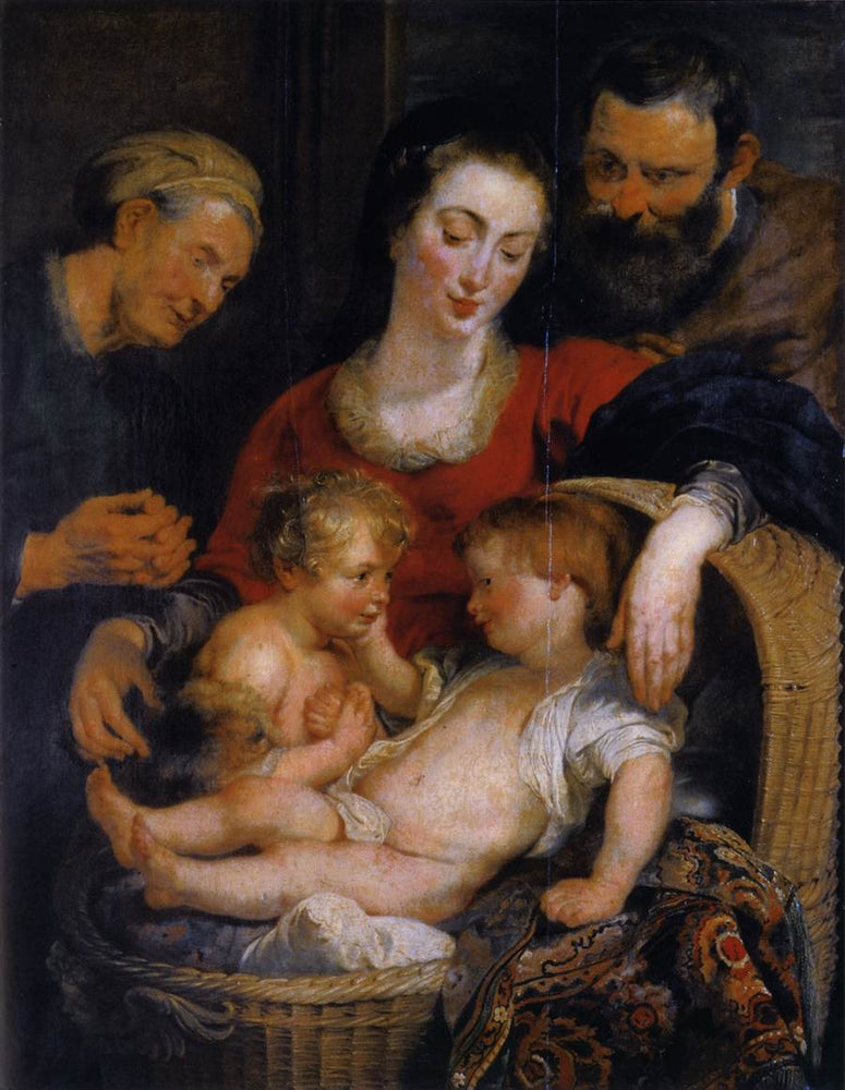 The Holy Family with St. Elizabeth by Peter Paul Rubens Reproduction Oil Painting on Canvas
