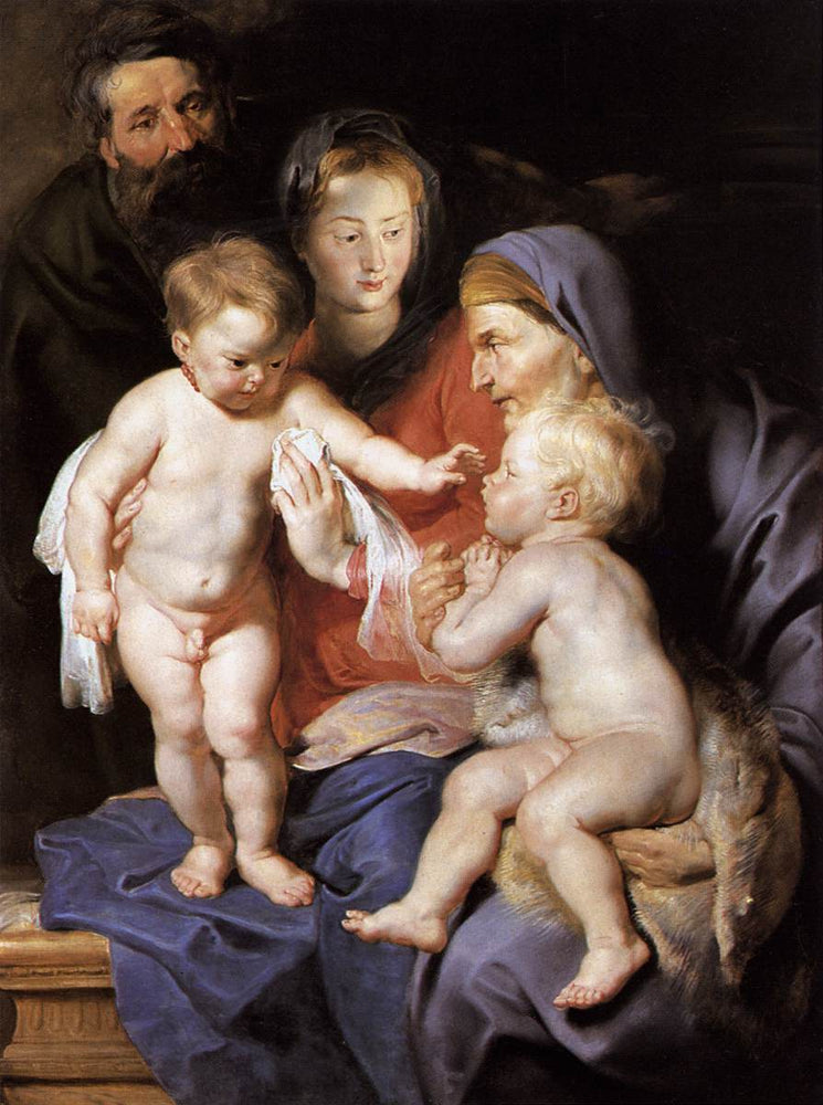 The Holy Family with St. Elizabeth and the Infant St. John the Baptist by Peter Paul Rubens Reproduction Oil Painting on Canvas