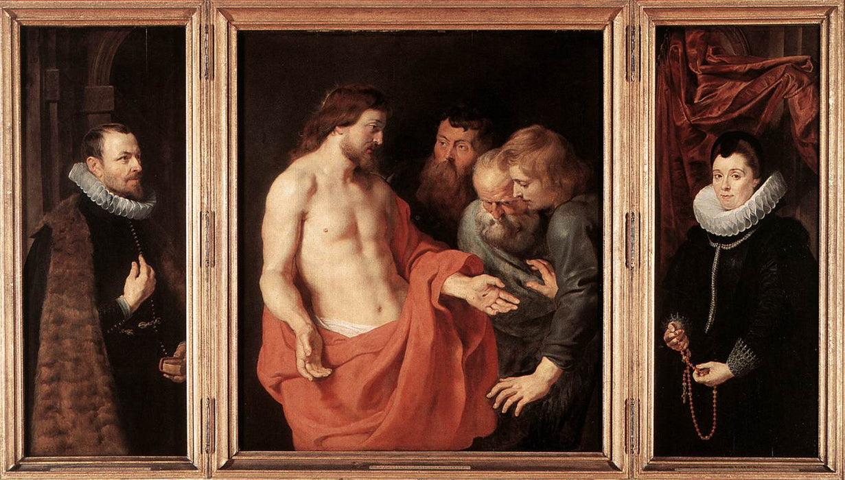 The Incredulity of St. Thomas by Peter Paul Rubens Reproduction Oil Painting on Canvas