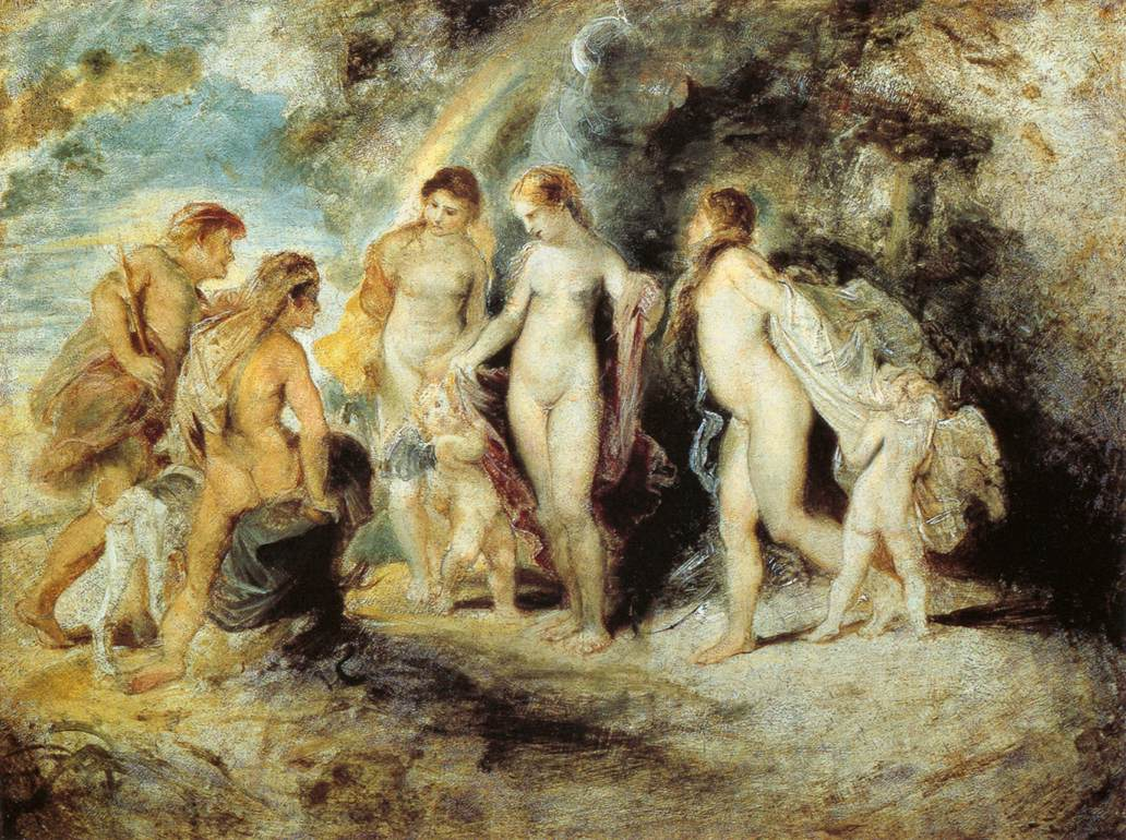 The Judgement of Paris by Peter Paul Rubens Reproduction Oil Painting on Canvas