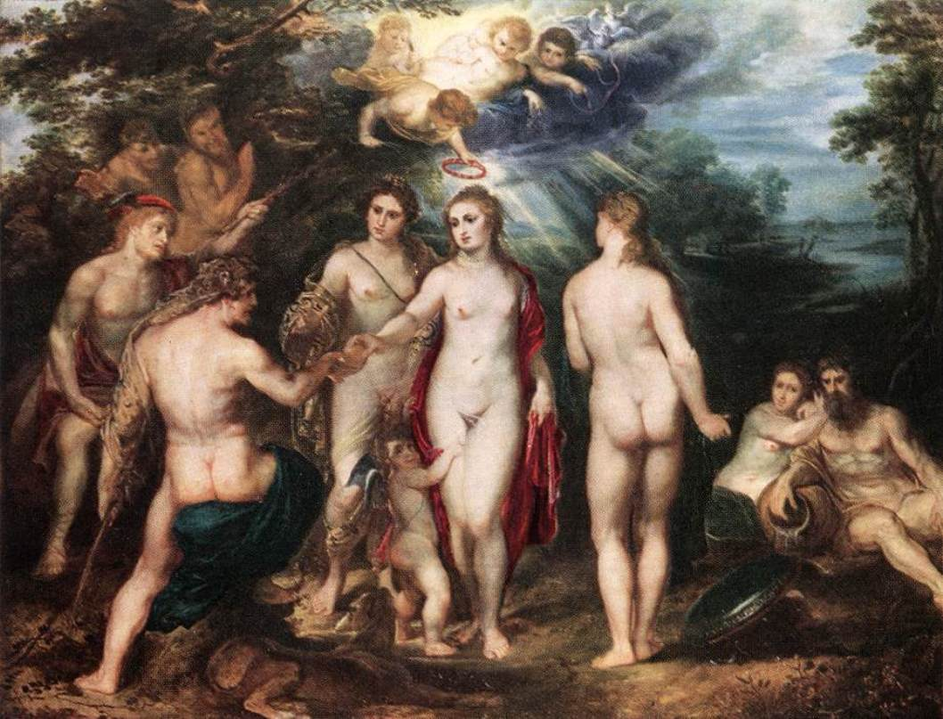 The Judgment of Paris by Peter Paul Rubens Reproduction Oil Painting on Canvas