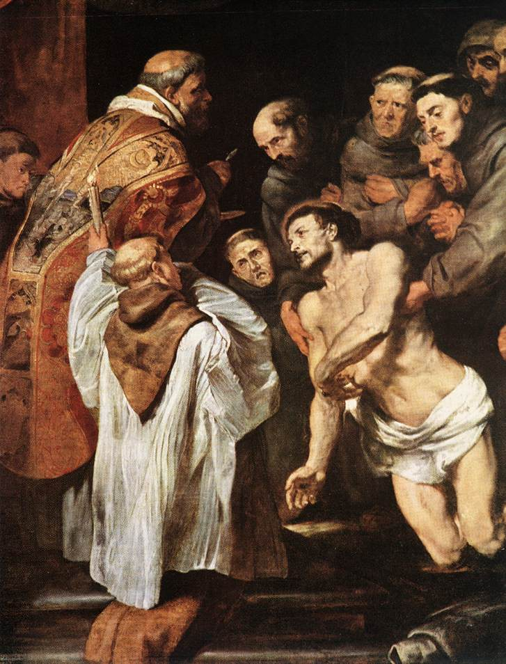 The Last Communion of St. Francis by Peter Paul Rubens Reproduction Oil Painting on Canvas