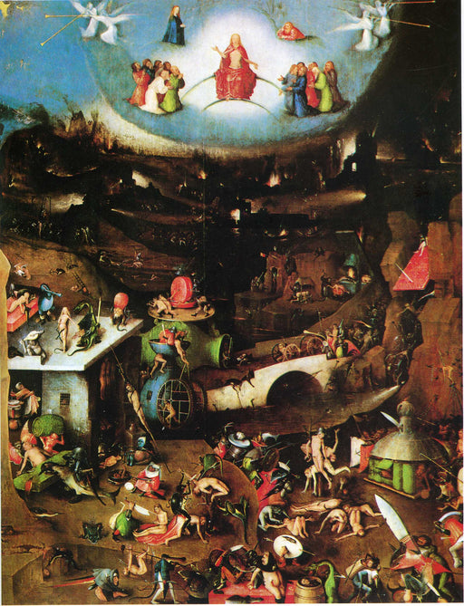 The Last Judgement (detail) by Hieronymus Bosch I Blue Surf Art