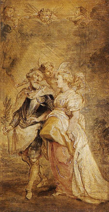 The Marriage of Henri IV of France and Marie de Médici by Peter Paul Rubens Reproduction Oil Painting on Canvas