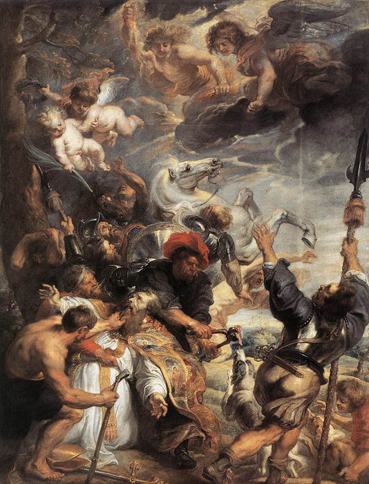 The Martyrdom of St. Livinus by Peter Paul Rubens Reproduction Oil Painting on Canvas