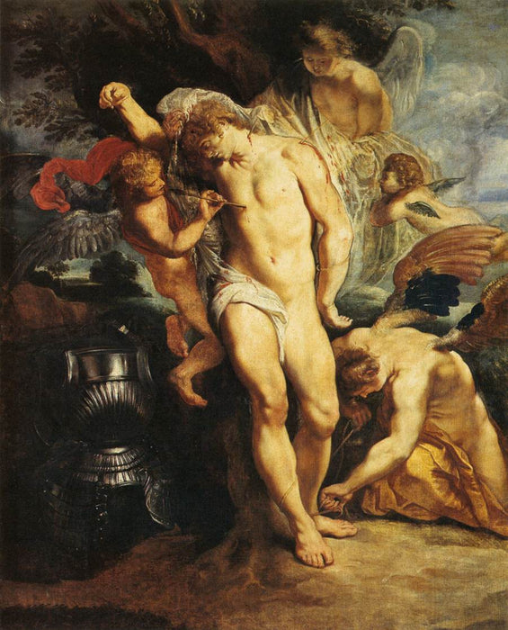 The Martyrdom of St. Sebastian by Peter Paul Rubens Reproduction Oil Painting on Canvas