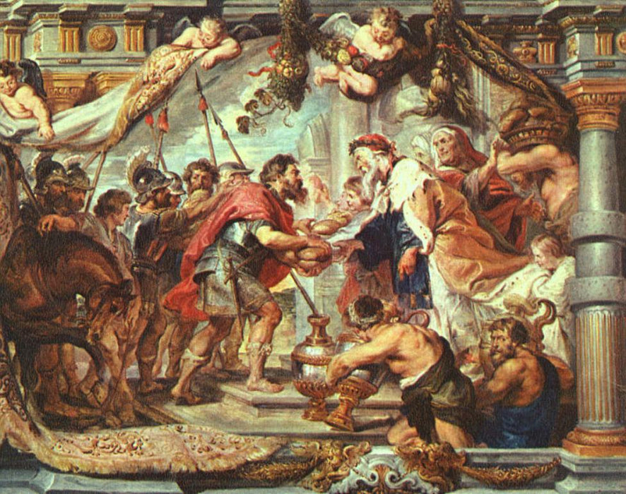 The Meeting of Abraham and Melchizedek by Peter Paul Rubens Reproduction Oil Painting on Canvas
