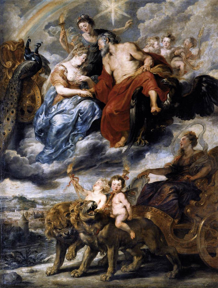 The Meeting of the King and Marie de Medici at Lyons, 9th November 1600 by Peter Paul Rubens Reproduction Oil Painting on Canvas