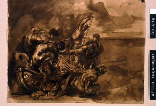 The Miraculous Draught of Fishes by Eugène Delacroix Reproduction Painting by Blue Surf Art