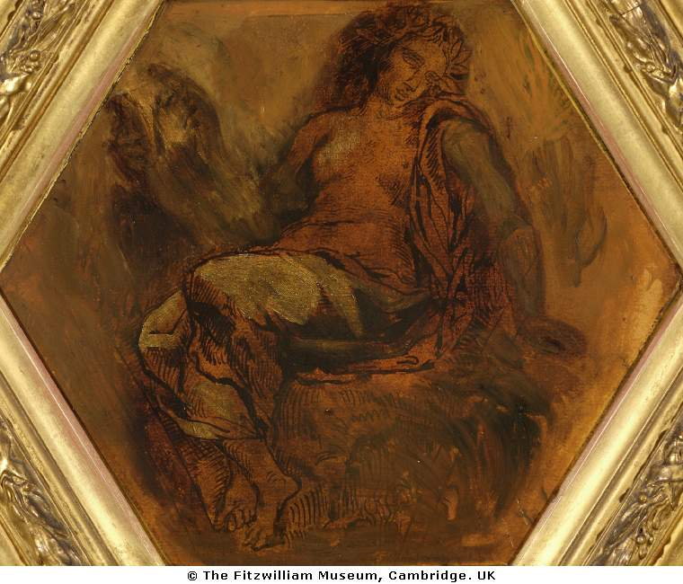 The Muse of Orpheus by Eugène Delacroix Reproduction Painting by Blue Surf Art