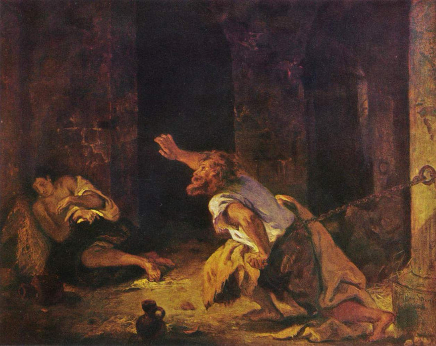The Prisoner of Chillon by Eugène Delacroix Reproduction Painting by Blue Surf Art