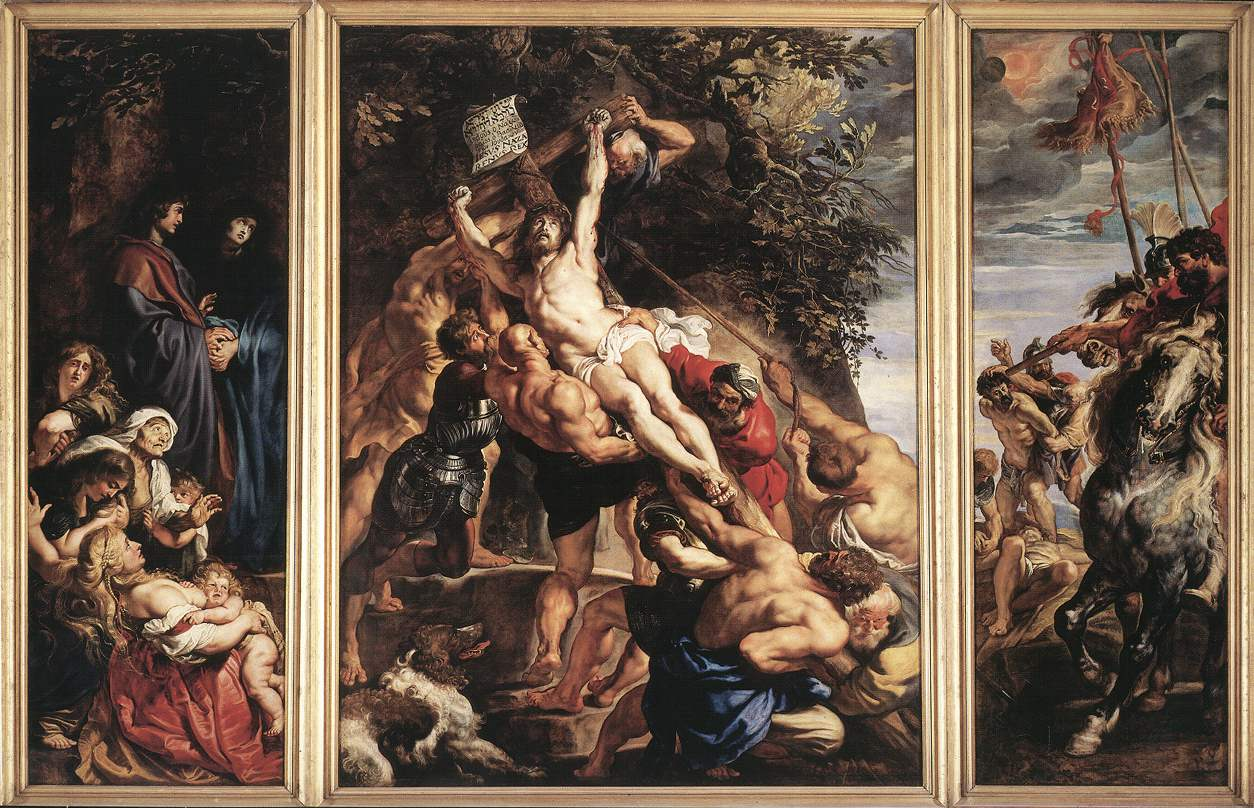 The Raising of the Cross by Peter Paul Rubens Reproduction Oil Painting on Canvas