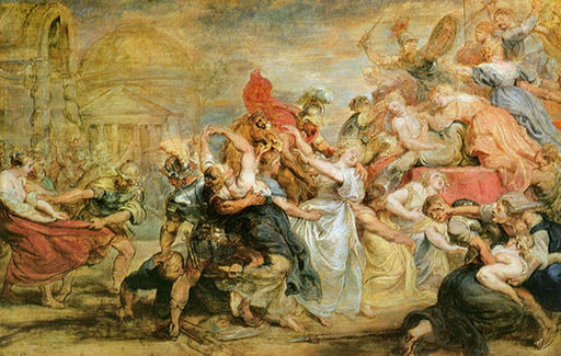 The Rape of the Sabine Women by Peter Paul Rubens Reproduction Oil Painting on Canvas