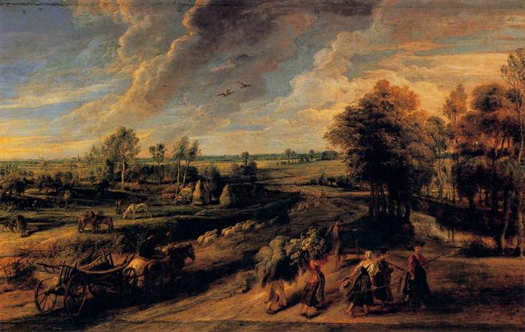 The Return of the Farm Workers from the Fields by Peter Paul Rubens Reproduction Oil Painting on Canvas