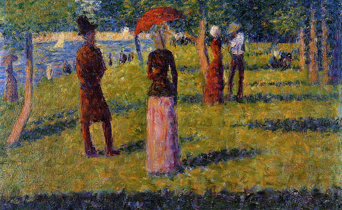 The Rope-Colored Skirt by Georges Seurat Reproduction Painting by Blue Surf Art