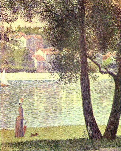 The Seine at Courbevoie by Georges Seurat Reproduction Painting by Blue Surf Art