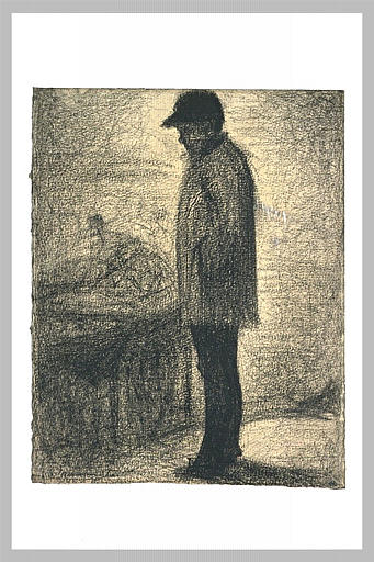 The seller of oranges by Georges Seurat Reproduction Painting by Blue Surf Art
