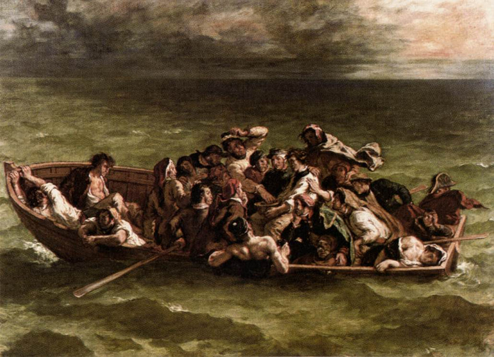 The Shipwreck of Don Juan by Eugène Delacroix Reproduction Painting by Blue Surf Art