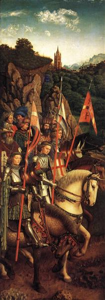 The Soldiers of Christ by Jan Van Eyck Reproduction Painting by Blue Surf Art
