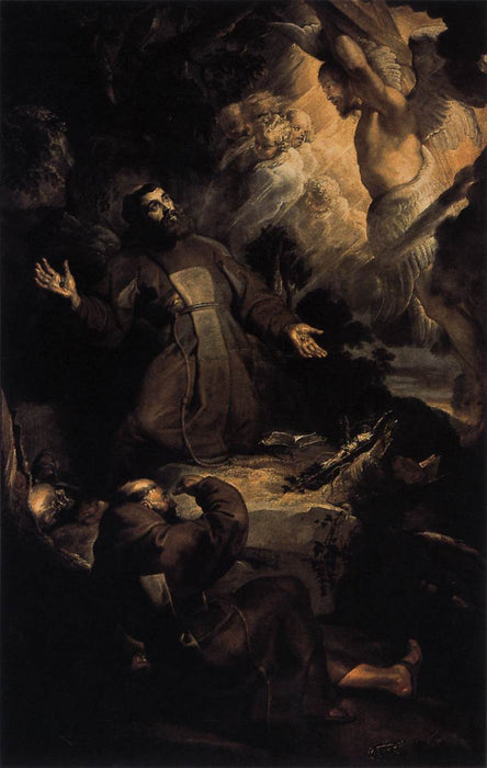 The Stigmatization of St. Francis by Peter Paul Rubens Reproduction Oil Painting on Canvas