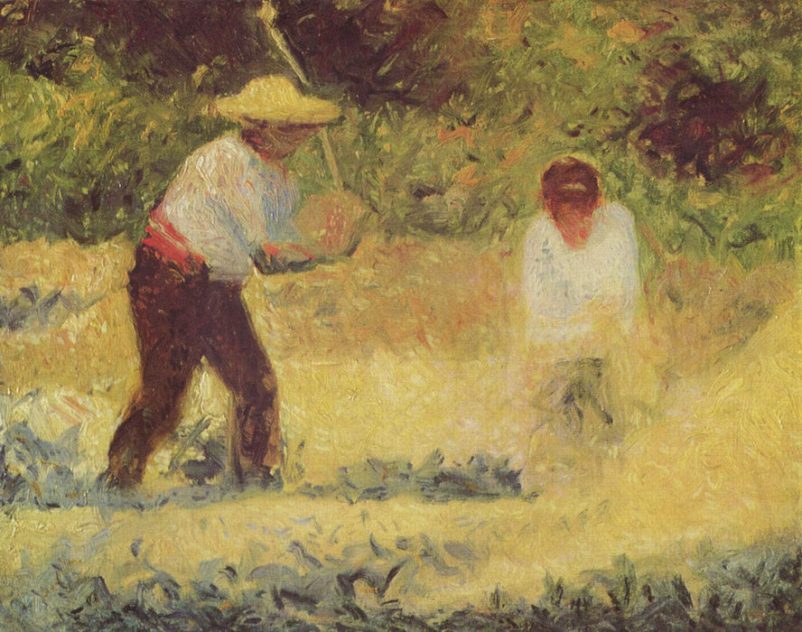 The Stone Breaker by Georges Seurat Reproduction Painting by Blue Surf Art