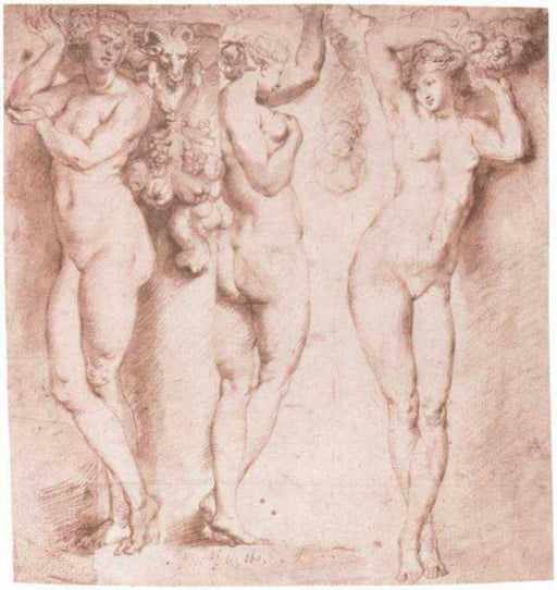 The Three Caryatids by Peter Paul Rubens Reproduction Oil Painting on Canvas