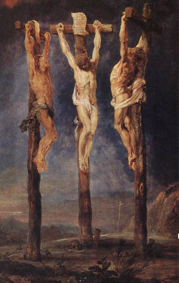 The Three Crosses by Peter Paul Rubens Reproduction Oil Painting on Canvas
