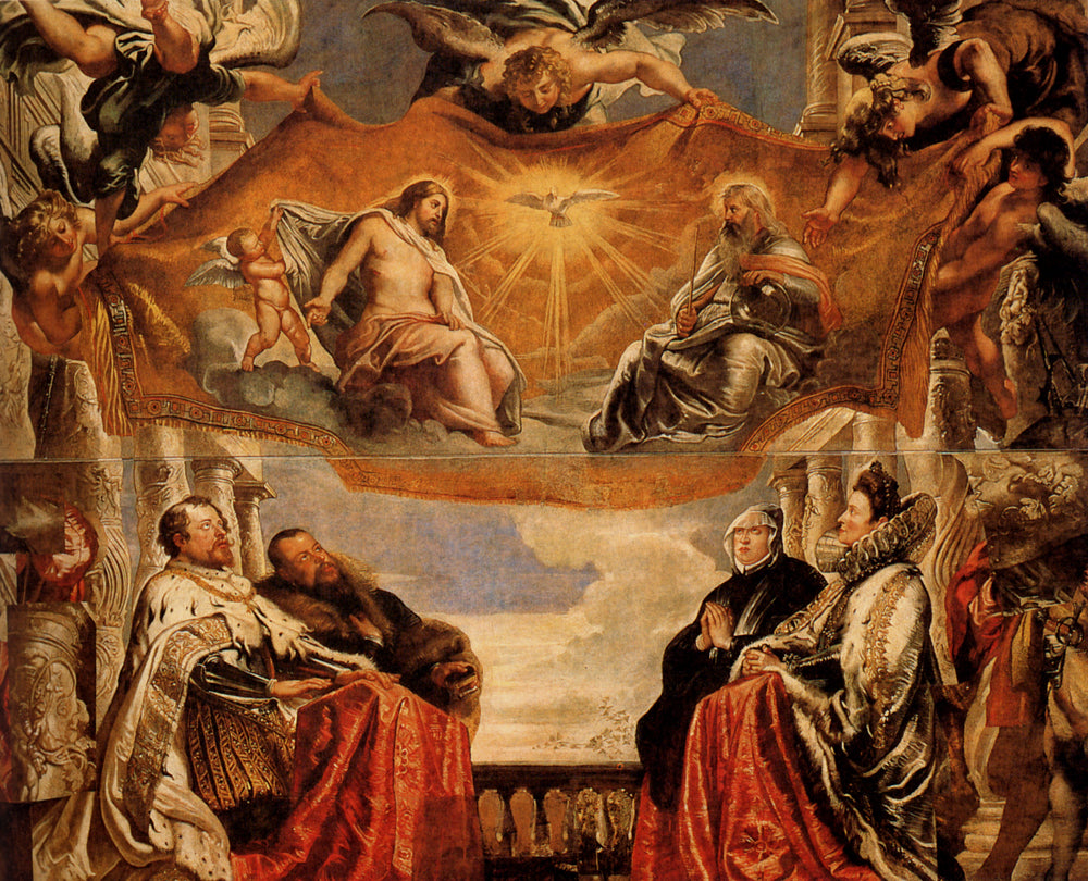 The Trinity Adored By The Duke of Mantua And His Family by Peter Paul Rubens Reproduction Oil Painting on Canvas