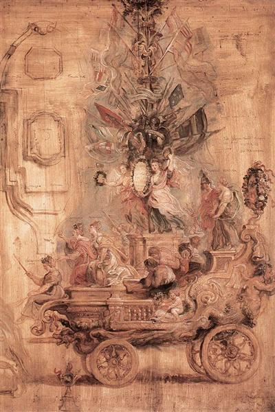 The Triumphal Car of Kallo (sketch) by Peter Paul Rubens Reproduction Oil Painting on Canvas
