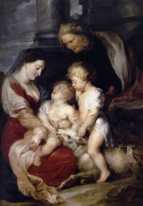 The Virgin and Child with St. Elizabeth and the Infant St. John the Baptist by Peter Paul Rubens Reproduction Oil Painting on Canvas