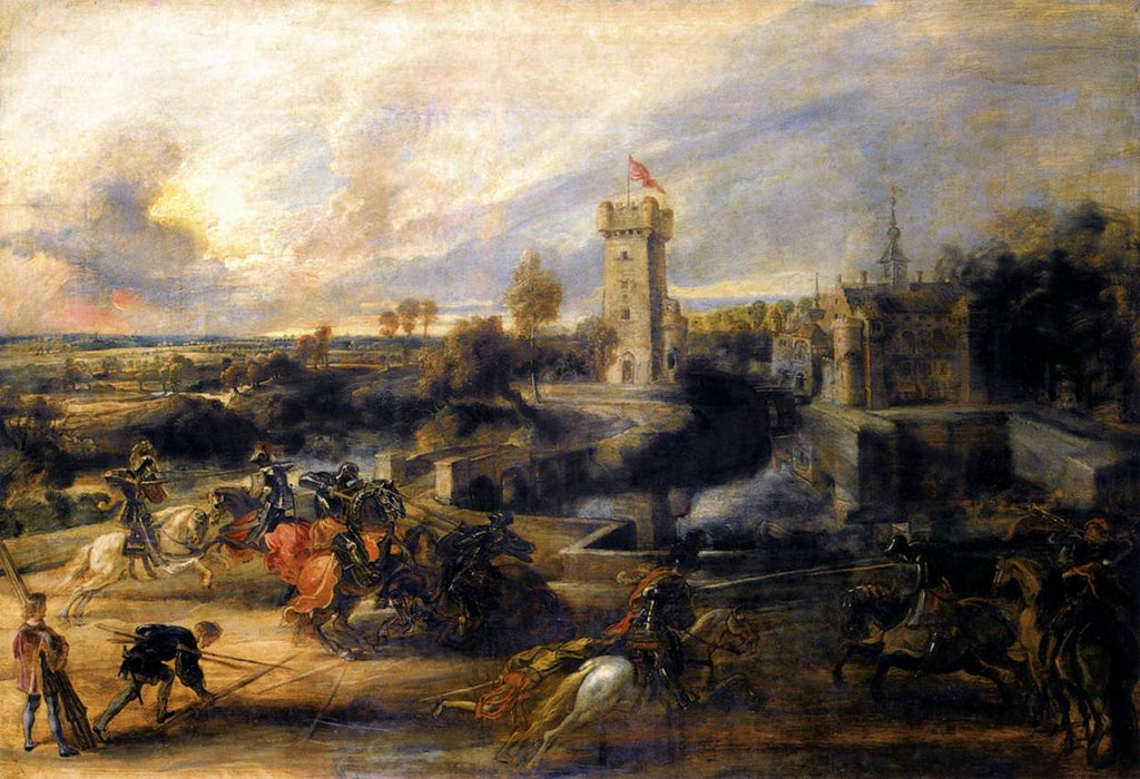 Tournament in front of Castle Steen by Peter Paul Rubens Reproduction Oil Painting on Canvas