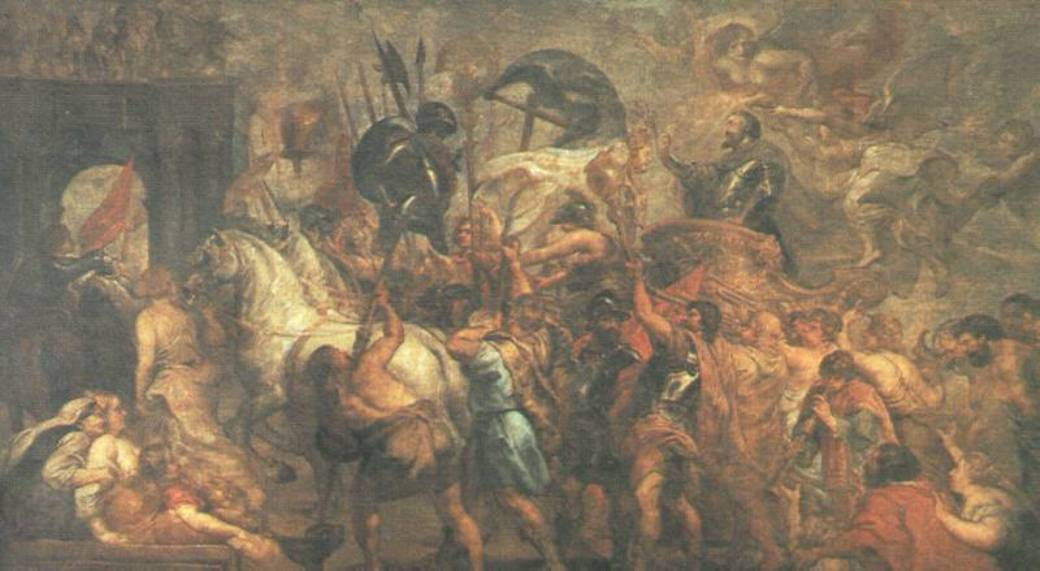 Triumphal Entry of Henry IV into Paris by Peter Paul Rubens Reproduction Oil Painting on Canvas