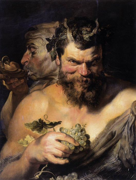 Two Satyrs by Peter Paul Rubens Reproduction Oil Painting on Canvas