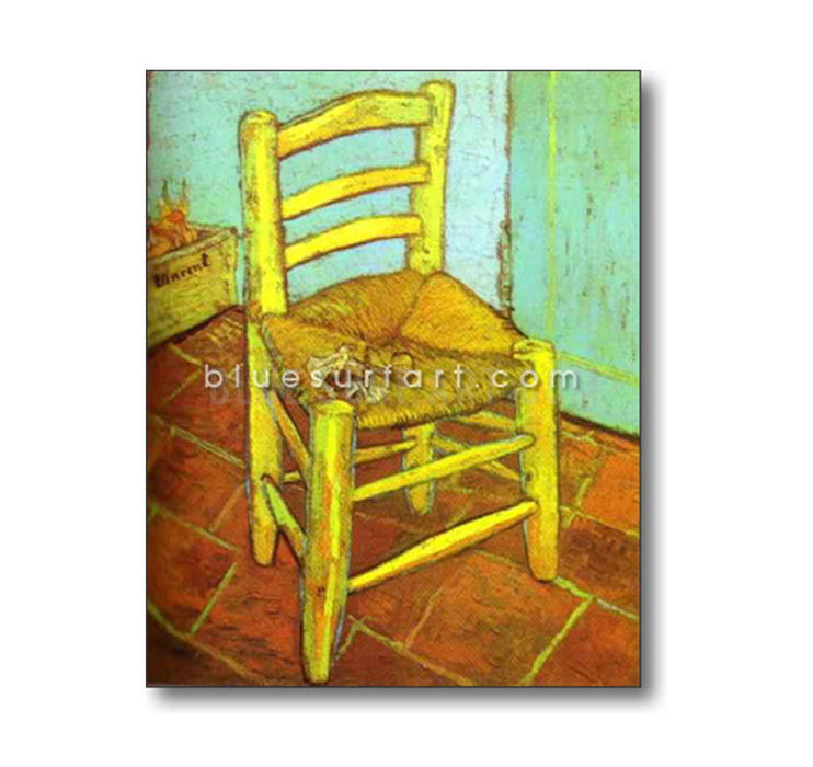 Vincents Chair with Pipe Reproduction in Oil Painting on Canvas I BSA 5