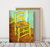 Vincents Chair with Pipe Reproduction in Oil Painting on Canvas I BSA 2